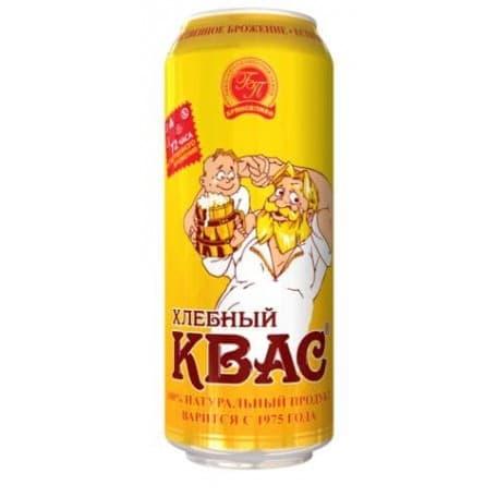 Квас хлебный ж/б 0.5 л