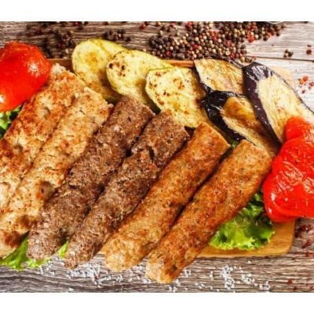 Люля-кебаб с овощным миксом