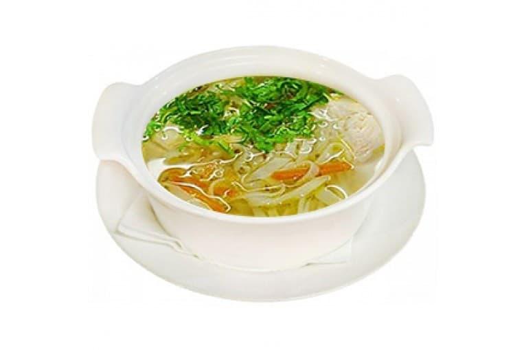 Суп-лапша куриная с мясом птицы
