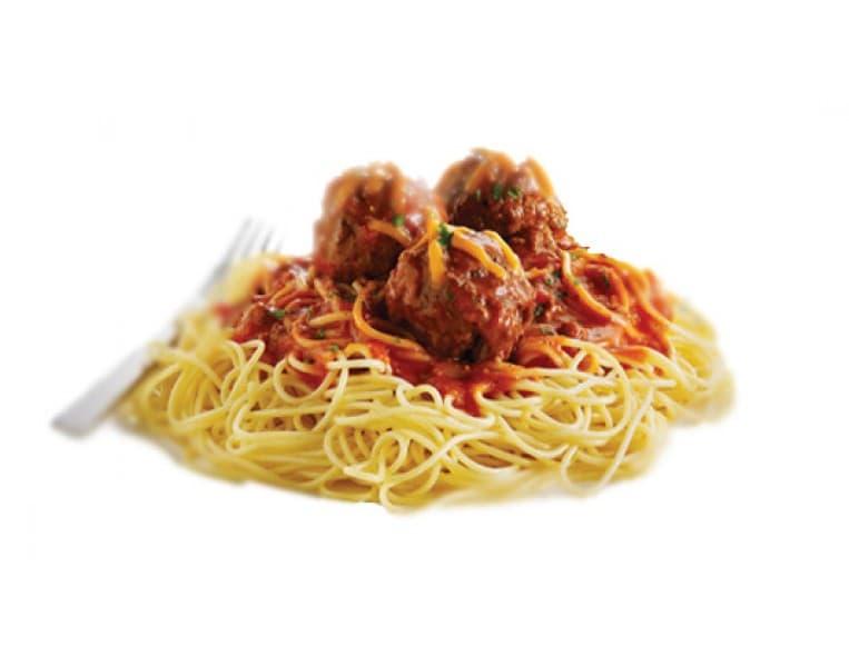 Спагетти с мясными фрикадельками в соусе барбекю