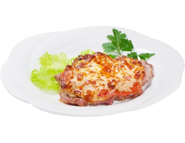 Мясо по-французски, картофель запеченный