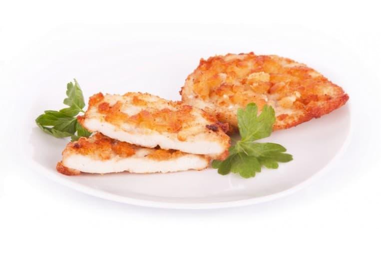 Отбивная из курицы, тушеный картофель