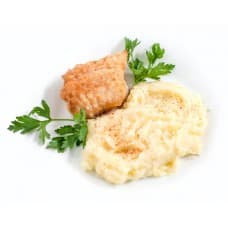 Морской окунь фаршированный, пюре картофельное