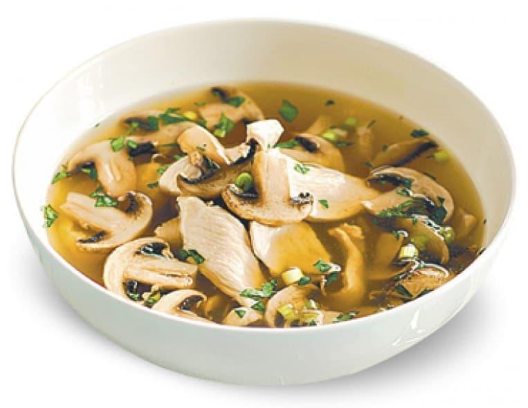 Суп «Охотничий» (грибной суп с копченостями и сыром)