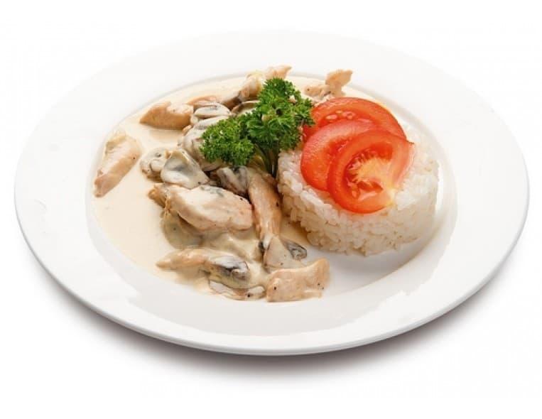 Фрикасе из курицы с рисом