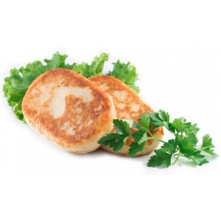Зраза мясная с луком и яйцом, тушёный картофель
