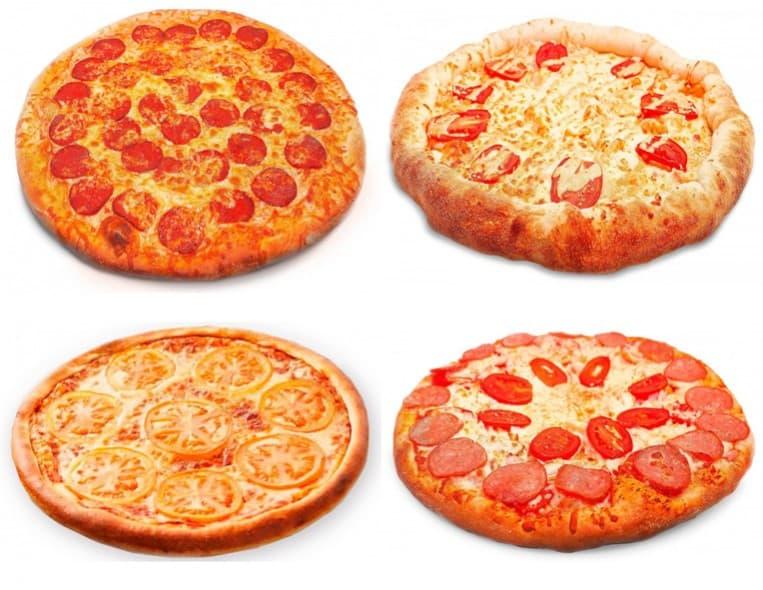 4 пиццы (маленькие)